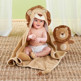Lion 3-Piece Bath Time Gift Set
