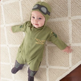 'Big Dreamzzz' Baby Pilot Zweiteiliges Layette Body Set