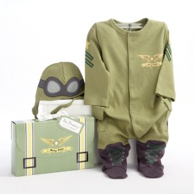 'Big Dreamzzz' Baby Pilot Two-Piece Layette Set