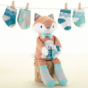 'Mr. Fox in Socks' Plush Plus Socks for Baby