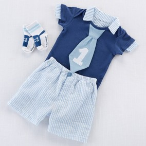 My First Birthday Little Fella Outfit - Baby Boy Gift Set